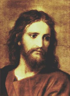 "Painting of Jesus Christ by Heinrich Hofmann.    ""For God so loved the world, that He gave His only begotten Son, that whosoever believeth in Him should not perish, but have everlasting life.""  John 3:16"