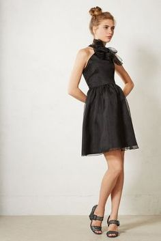 Black Bow Dress @Anthropologie