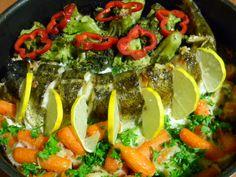Salau cu broccoli si morcovi (la cuptor)