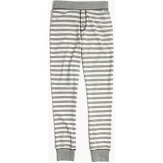MADEWELL Striped Pajama Leggings ($30) ❤ liked on Polyvore featuring intimates, sleepwear, pajamas, heather grey, madewell pajamas, striped pjs, button pajamas, striped pajamas and madewell