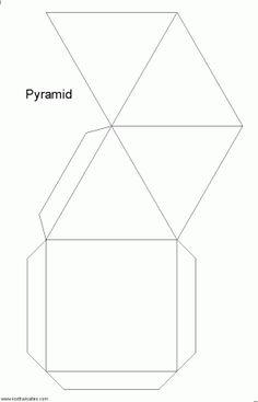 desarrollo plano de unpirámide cuadrada