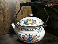 Vintage M.kamenstein Vienna Floral Tea Kettle