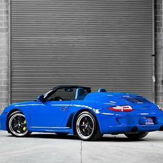 Striking Blue Porsche