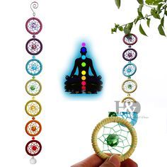 Cheap ornaments for home, Buy Quality ornamental decoration directly from China ornaments nautical Suppliers: 18.5Inches Chakra Muladhar Dream Catcher Wall Hanging Decoration Ornament for Car Party Nautical home decoration dreamcatcher