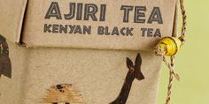 Each box of Ajiri Tea features a unique label, handmade by women in western Kenya, using dried bark from banana trees. The cellophane bag inside of each box is decorated with a twine made from dried banana bark, and beads made from recycled magazines. The cardboard box is made in the U.S. from 100% recycled paper.""