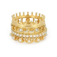 Les bagues ring stack For Eva de Perlota