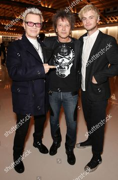 >> I HATE COPYRIGHT LIKE THIS !!! << Billy Idol, Billy Morrison and Willem Wolf at *MR. CHOW 50 YEARS* 02/16/2018
