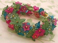 beaded flowers jelwery - Google Search