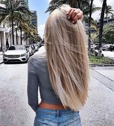 hair goals☆ Follow us @popcherryau for more hair inspo ☆ straight blonde hair // amazing // want // perfect