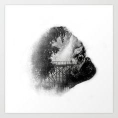 Sookie and the bridge Art Print by Avahunt - $16.00