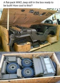 Lean Belly Workout And Diet Plan Get yours now! jacdurac: A flat-pack Jeep still in the box ready to be. jacdurac: A flat-pack Jeep still in the box ready to be built! get lost with me April 07 2019 at Jeep Wrangler, Cj Jeep, Jeep 4x4, Jeep Truck, Jeep Willys, Funny Car Memes, Car Humor, Jeep Viejo, Old Trucks