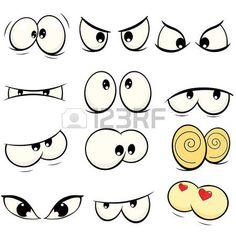 The complete set of the drawn eyes art funny Ähnliche Bilder, Stockfotos und Vektorgrafiken von Cartoon faces. Each on a separate layer. Graffiti Drawing, Graffiti Lettering, Graffiti Art, Doodle Icon, Doodle Sketch, Doodle Art, Art And Illustration, Character Illustration, Character Sketches