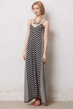 A soft, comfy dress to wear on hot summer days  Market Day Striped Maxi - Anthropologie