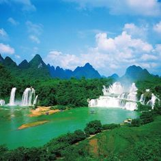 ***Ban Gioc falls, Vietnam*** ... I want to go to Vietnam for many reasons but just look at these waterfalls