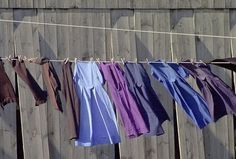 Amish clothes drying on the line.