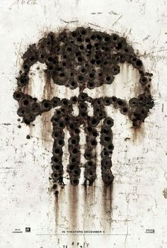 Punisher sign made in bullet holes - Rgrips.com