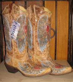 Rivertrail Mercantile - Corral Boots Antique Saddle Blue Jean Wing And Heart, $229.99 (http://www.rivertrailmercantile.com/corral-boots-antique-saddle-blue-jean-wing-and-heart/)