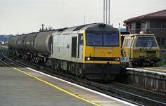 60081 is seen working a short tank train through Basingstoke Station on Copyright Ian Cuthbertson Electric Locomotive, Diesel Locomotive, Train Service, British Rail, Wwii, Trains, Live, World War Ii, Train