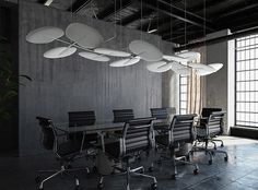 Murs Mobiles, Ceiling Fan, Ceiling Lights, Ceiling Installation, Sound Absorbing, Lounge, Acoustic Panels, Polished Concrete, Tubular Steel