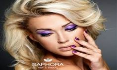 Photo about Beautiful blond woman with beauty purple manicure and makeup of eyes. Fashion model with curly hairstyle. Image of nail, fingers, color - 27688597 Hair And Beauty Salon, My Beauty, Beauty Tips, Beauty Hacks, Hair Tips, Hair Hacks, The Purple, Purple Gold, Purple Manicure