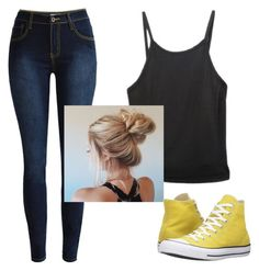 """simple"" by luvzlife on Polyvore featuring Converse"