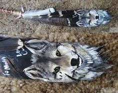 painted feathers - Google Search