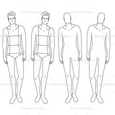 Male Fashion Croquis TemplateThese fashion design templates are great for doing fashion sketches and drawings on. Use the native vector artwork in Adobe Ill Fashion Illustration Template, Illustration Mode, Fashion Illustrations, Fashion Design Jobs, Fashion Design Template, Design Templates, Croquis Fashion, Fashion Sketches, Fashion Figures
