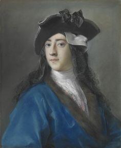Rosalba Carriera (Italian, 1673–1757). Gustavus Hamilton (1710–1746), 2nd Viscount Boyne, in Masquerade Costume, ca. 1730–31. Pastel on blue paper, laid down on canvas