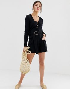 Browse online for the newest Stradivarius longline belted shorts in black styles. Shop easier with ASOS' multiple payments and return options (Ts&Cs apply). Pop Fashion, Womens Fashion, Fashion Black, Womens Clothing Stores, Clothes For Women, Belted Shorts, High Waisted Bikini Bottoms, Jumper Dress, Long A Line