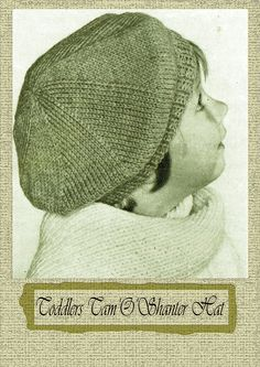 PDF Vintage Baby Girl Hat BeretHat Knitting Pattern EASY 1940s Baby Girl Hats, Girl With Hat, Easy Knitting, Knitting Patterns, Tam O' Shanter, Crochet Winter Hats, Knit Crochet, Crochet Hats, Vintage Knitting
