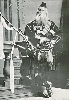Donald Cameron strikes a jaunty pose in 1868, the year of his death. Immortalized in the great six-part competition march named for him, Donald Cameron was the greatest piper of his generation, and one of the most influential piping figures of the 19th century.