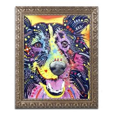 Dean Russo 'Sheltie' Ornate Framed Art