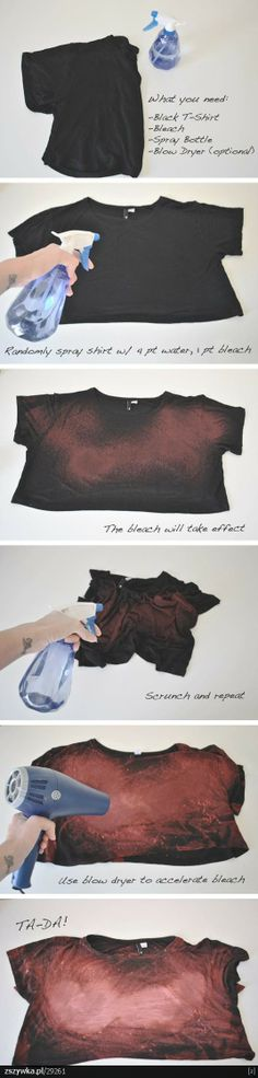 cosmic diy shirt - awesome idea if it works!