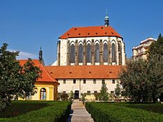 The church of Our Lady of the Snows (Czech: Panny Marie Sněžné), Prague, Czechia #gothic #church #prague #czechia It was supposed to be the second biggest church in Prague (about 110 meters long), but it was not completed. During the Hussite Wars the construction was interrupted, the church was heavily damaged  The current form consists only of the presbytery of the church. Prague Old Town, Church Of Our Lady, Mario, Two By Two, Construction, Mansions, House Styles, Praha, Gothic