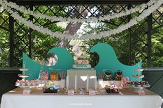 Nice Party mesa de dulces surf sweet table Surf Party Sweet table