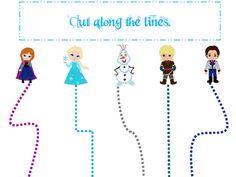frozen preschool worksheets | Frozen themed Scissor Cutting Practice Worksheet. Preschool cutting ...
