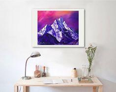 Nepal mountains art print Ama Dablam mountain art print | Etsy Printing Services, Online Printing, Digital Prints, Digital Art, Horse Portrait, Mountain Art, Original Paintings, Oil Paintings, Beautiful Paintings