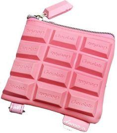 bolsa en forma de chocolate rosa