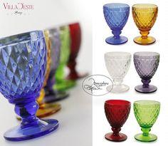 VILLA D ESTE Set 6 Bicchieri Calice acqua Imperial color