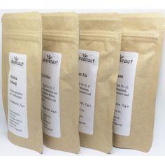 Probierpaket Thailändischer Tee - 25 g Oolong, Matcha, Matcha, Oolong Tee, Gramm, Jin, Handarbeit, Gifts, Gin