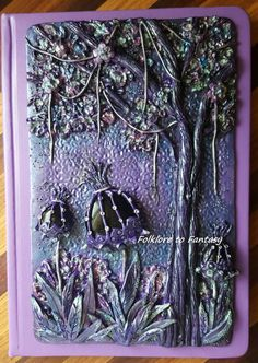 Polymer Clay Purple Hues Journal Cover by FolkloretoFantasy