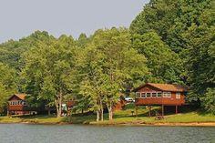 Rental cabins at Salt Fork State Park