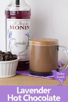 Relaxing at night has never been easier than with a cup of Lavender Hot Chocolate made by the glass with one simple trick for a thick, rich texture without adding a ton of calories
