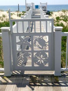 Starfish, Seahorse, Blue Crab & Sand Dollar Gate & Porch Panel