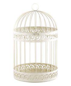 Love this Classic Ivory Decorative Bird Cage on #zulily! #zulilyfinds