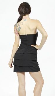I love this dress by Angl. ♥ Tulip Layered Tube Dress. Black. Back.