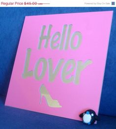 """""""Hello Lover"""" mirror - Sex and the City quote 