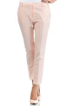 Elegant pants in shades of powder pink