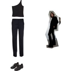 excuse me sir, but I am a lady by thisisnotmyname on Polyvore featuring Maison Margiela, Monki and Guidi