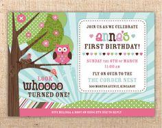Woodland Owl Theme Custom Birthday Party Invitation  by mjcorder, $15.00